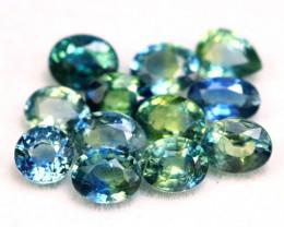 Sapphire 3.91Ct Natural Madagascar Parti Color Sapphire Lot B2201