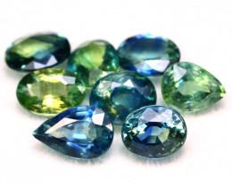 Sapphire 3.37Ct Natural Madagascar Parti Color Sapphire Lot B2204
