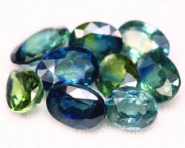 Sapphire 4.59Ct Natural Madagascar Blue Parti Color Sapphire Lot B2206