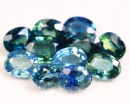 Sapphire 4.51Ct Natural Madagascar Blue Parti Color Sapphire Lot B2207