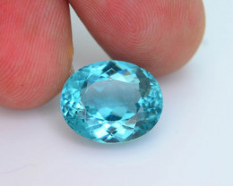 Great Luster 7.51 ct Apatite Mesmerizing Caribbean Color