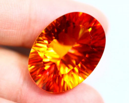 22.06cts Natural Orange Colour Coated TOPAZ / RD01