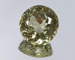 5.4ct Yellow Round Apatite 10.3 mm (SKU 114)