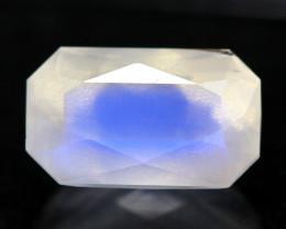 2.45Ct Top Grade Natural Blue Flash Color Rainbow Moonstone MC09