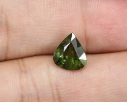 2.96ct Lab Certified Natural Green Sapphire