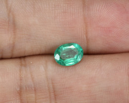 0.91ct Lab Certified Zambian Emerald