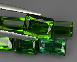 7.40 CTS-ALLURING TOP GREEN PARTY COLOR GREEN TOURMALINE OCTAGON CUT!!