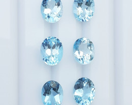 13.5Cts Natural Blue Topaz Gems.