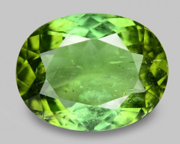 4.00 Cts Unheated Fancy Green Natural Tourmaline Gemstone