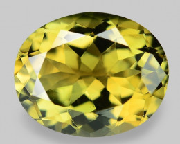 2.46 Cts Unheated Fancy Yellow Natural Tourmaline Gemstone