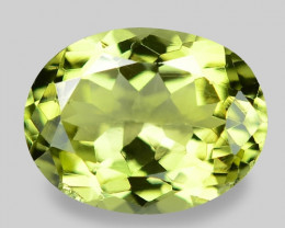 1.59 Cts Unheated Fancy Yellowish Green Natural Tourmaline Gemstone