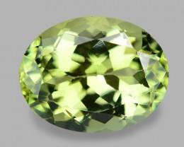 1.86 Cts Unheated Fancy Yellowish Green Natural Tourmaline Gemstone