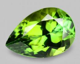 1.69 Cts Unheated Fancy  Green Natural Tourmaline Gemstone