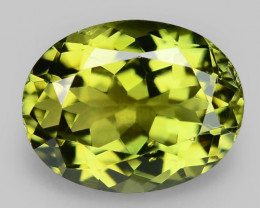 1.87 Cts Unheated Fancy  Yellow  Green Natural Tourmaline Gemstone