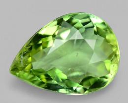 1.00 Cts Unheated Fancy  Yellow  Green Natural Tourmaline Gemstone