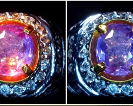 Unheat - Cartified  Clean Natural Sapphire Color Change