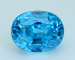 AAA Grade 3.49 ct Natural Blue Zircon Cambodia SKU.8