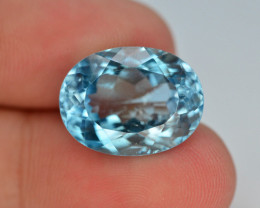 13.35 Ct   Natural Blue Swiss Topaz T