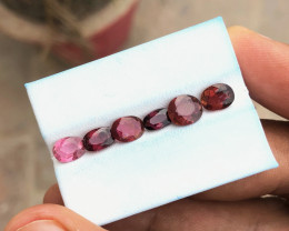 4.40 Ct Natural Red Transparent Rubellite Tourmaline Gems Parcels