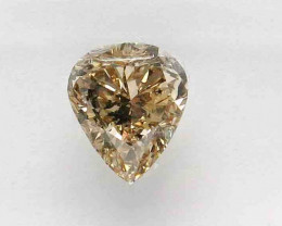 1.75ct  Natural Fancy yellowish Brown Diamond IGI certified  Pear