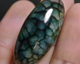 40.40 CT Beautiful Green Dragon Skin Chalcedony Agate