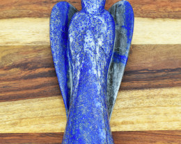 Genuine 2430.00 Cts Blue Lapis Lazuli Carved Angel