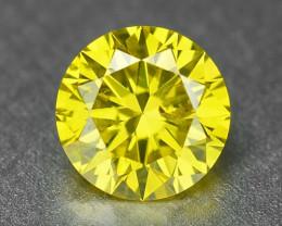 0.23  Carat Very Rare Vivid  Yellow Natural Loose Diamond
