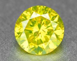 0.25 Carat Very Rare Parrot Green Natural Loose Diamond