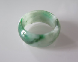 NATURAL JADEITE RING from BURMA....44.78cts...size 13 2/4