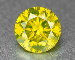 0.33 Carat Very Rare Vivid Yellow Natural Loose Diamond