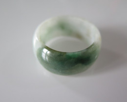 NATURAL JADEITE RING from BURMA....46.12cts...size 13 3/4