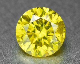 0.25 Carat Very Rare Vivid Yellow Natural Loose Diamond