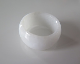 NATURAL JADEITE RING from BURMA....34.66cts...size 8 2/4