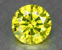 0.28 Carat Very Rare Parrot Green Natural Loose Diamond