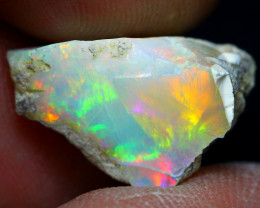 Welo Opal 7.59Ct Bright Color Play Ethiopian Opal A0205