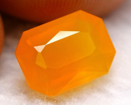 2.52Ct Vivid Orange Natural Mexican Fire Opal MC39