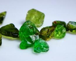 15.70 Cts Beautiful, Superb Green Tourmaline Rough Lot