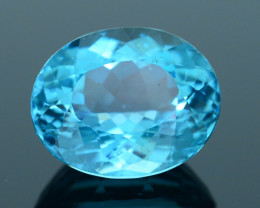 Great Luster 7.04 ct Apatite Mesmerizing Caribbean Color