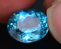 Apatite Great Luster 7.04 ct  Mesmerizing Caribbean Color