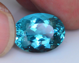 Apatite~9.55 ct Great Luster Mesmerizing Caribbean Color