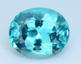 Great Luster 7.34 ct Apatite Mesmerizing Caribbean Color