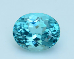 Cert~Apatite 4.12 ct Mesmerizing Caribbean Color