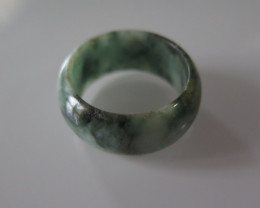 NATURAL JADEITE RING from BURMA....42.81cts...size 13 2/4