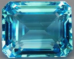 27.44 ct. Natural Swiss Blue Topaz Top Quality Gemstone Brazil