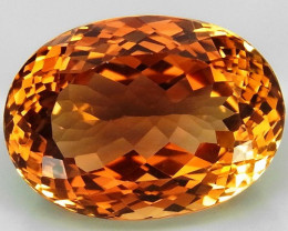 18.95 ct. 100% Natural Topaz Orangey Brown Brazil