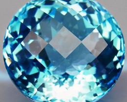 27.55 ct. 100% Natural Swiss Blue Topaz Top Quality Gemstone Brazil