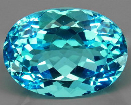 21.85 ct. 100% Natural Swiss Blue Topaz Top Quality Gemstone Brazil