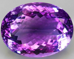 45.82 ct. Natural Top Nice Purple Amethyst Unheated Brazil