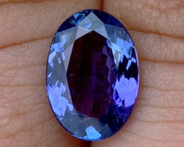 2.90 ct Tanzanite - Flawless Clarity - Blue Violet