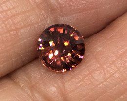1.60 Carat VVS Zircon Cinnamon Red Flash Unheated Tanzania Rare!
